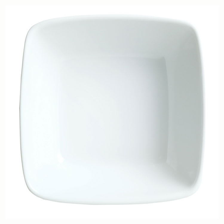 Syracuse China 911194433 5 oz Square Bowl w/ Reflections Pattern & Shape, Alumawhite Body