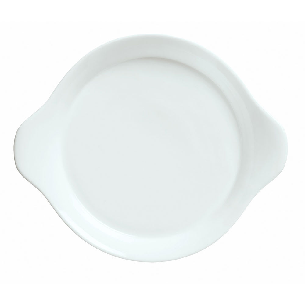 "Syracuse China 911194441 10"" Handled Dish w/ Reflections Pattern & Shape, Alumawhite Body"