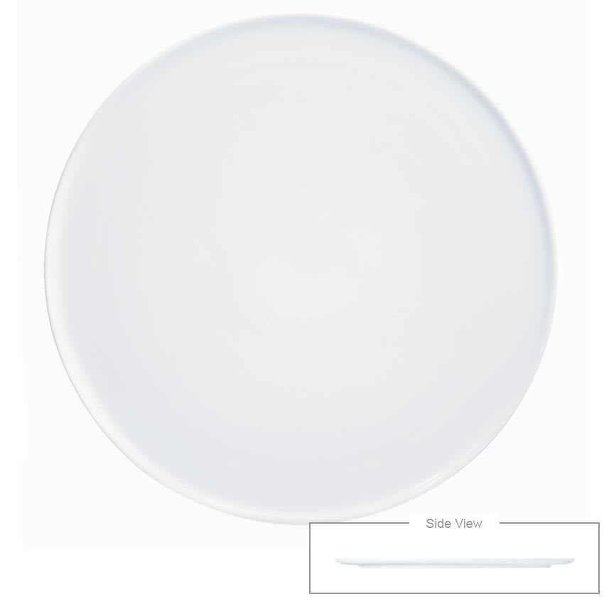 "Syracuse China 911194487 6 1/4"" Chef's Selection Tray - Round, Aluma White"