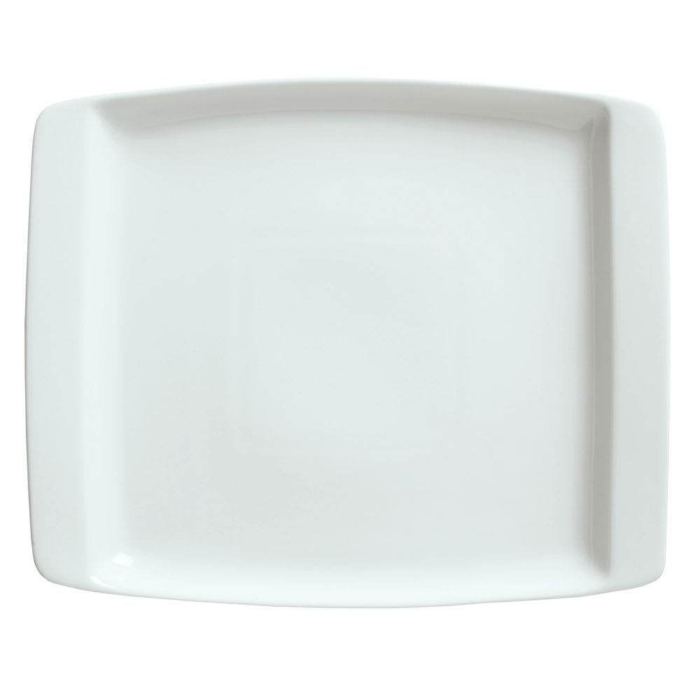 "Syracuse China 911194490 11.25"" Handled Platter w/ Reflections Pattern & Shape, Alumawhite Body"