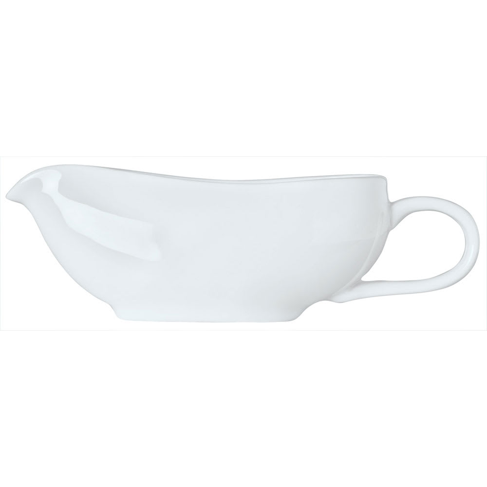 Syracuse China 911194506 3-oz Reflections Sauce Boat - Glazed, Loop Handle, Aluma White
