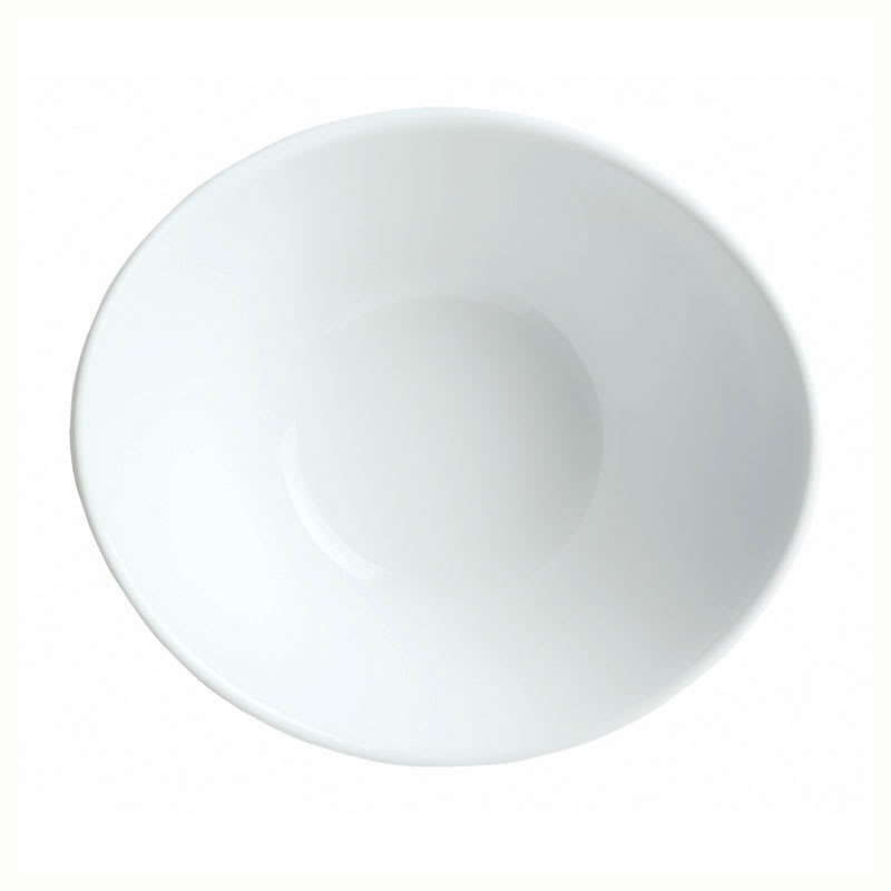 "Syracuse China 911194602 5.37"" Infinity Bowl w/ Reflections Pattern & Shape, Alumawhite Body"