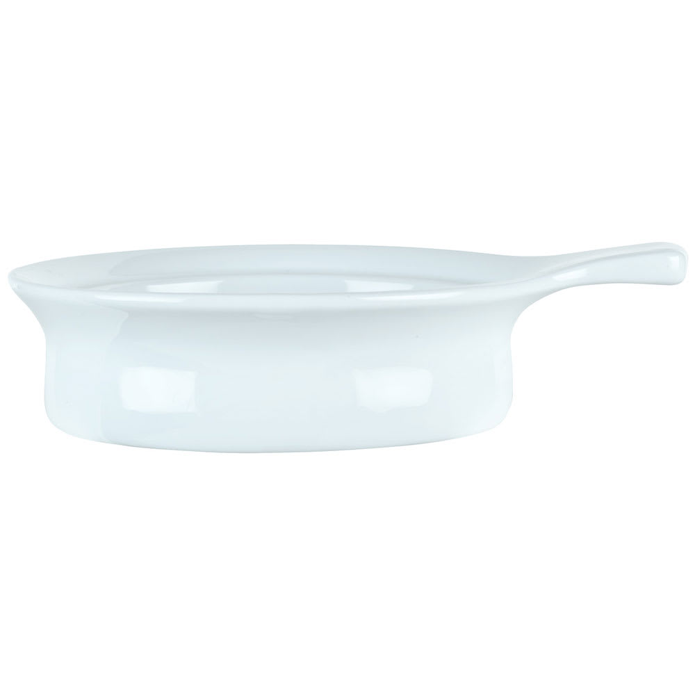 Syracuse China 911194801 10-oz Chef's Selection Casserole Dish - Round, Aluma White