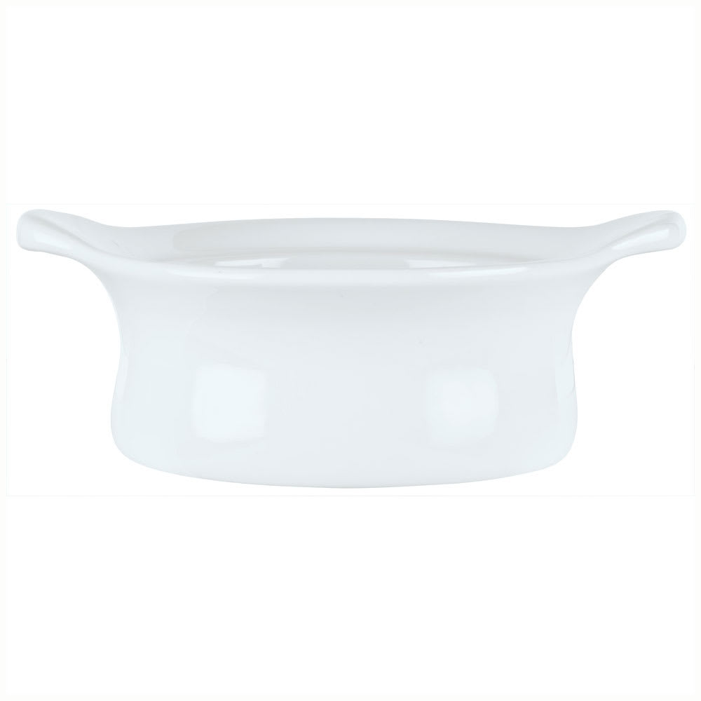Syracuse China 911194802 9-oz Chef's Selection Casserole Dish - Round, Aluma White
