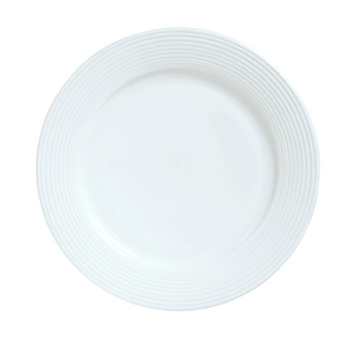 """Syracuse China 911196006 6.62"""" Plate w/ Repetition Pattern & Shape"""