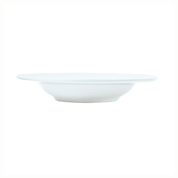 Syracuse China 911196007 13 oz Rim Soup Bowl w/ Repetition Pattern & Shape, Bone China Body