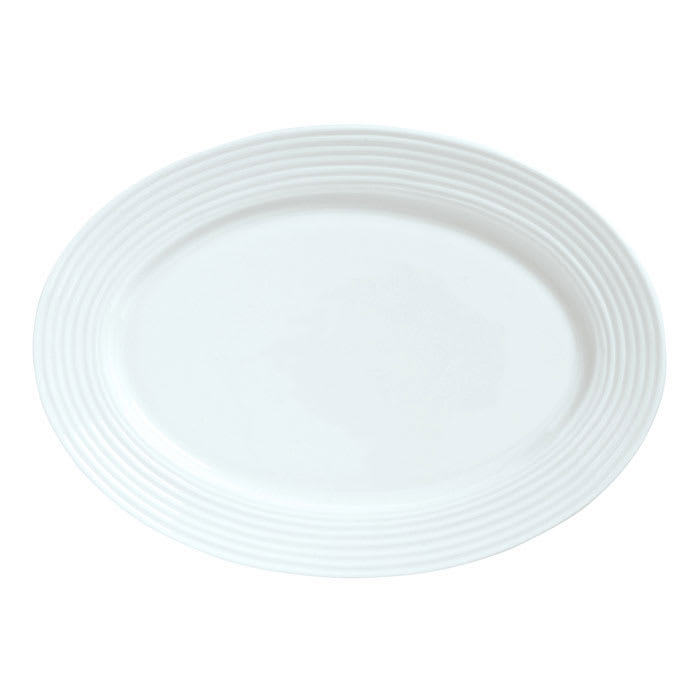 "Syracuse China 911196008 14.5"" Platter w/ Repetition Pattern & Shape"