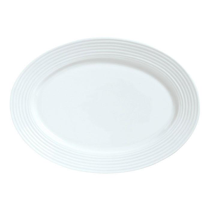 "Syracuse China 911196009 12.25"" Platter w/ Repetition Pattern & Shape"