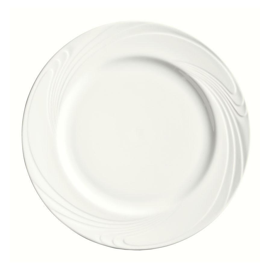 """Syracuse China 911892003 9-7/8"""" Ocean Shore Plate - Round, Glazed, Aluma White"""