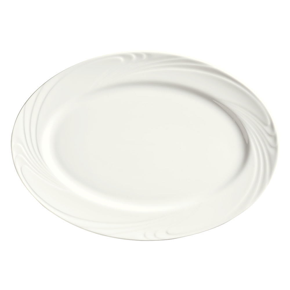 "Syracuse China 911892008 14-1/2"" Ocean Shore Platter - Oval, Aluma White"