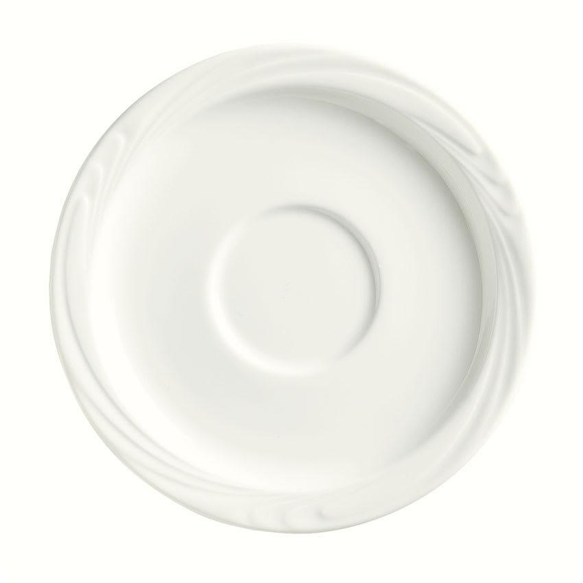 """Syracuse China 911892021 5-3/4"""" Ocean Shore Saucer - Round, Glazed, Aluma White"""