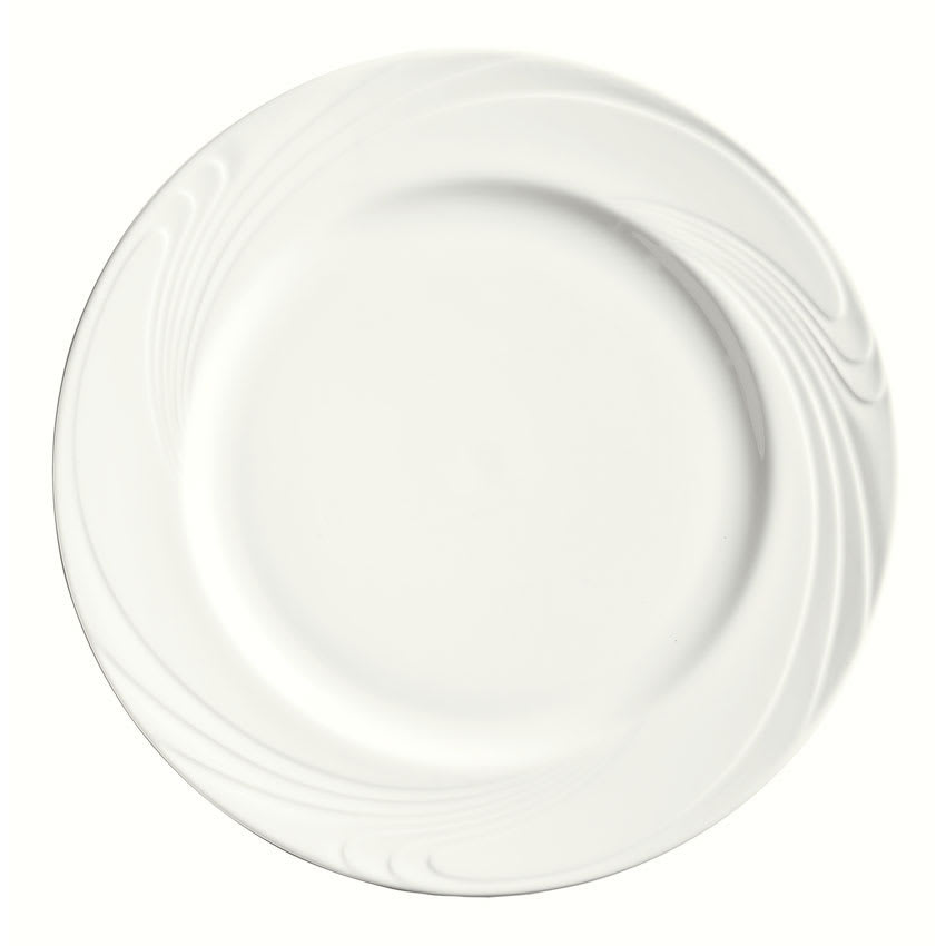 "Syracuse China 911892039 9"" Ocean Shore Plate - Glazed, Aluma White"
