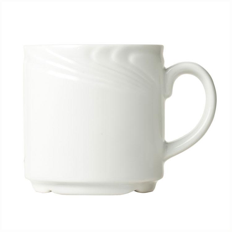 Syracuse China 911892040 12-oz Ocean Shore Mug - Glazed, Aluma White