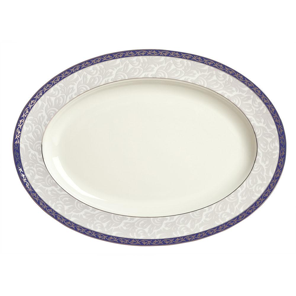 """Syracuse China 912345023 10-1/4"""" Scarborough Platter - Oval, Glazed, White"""