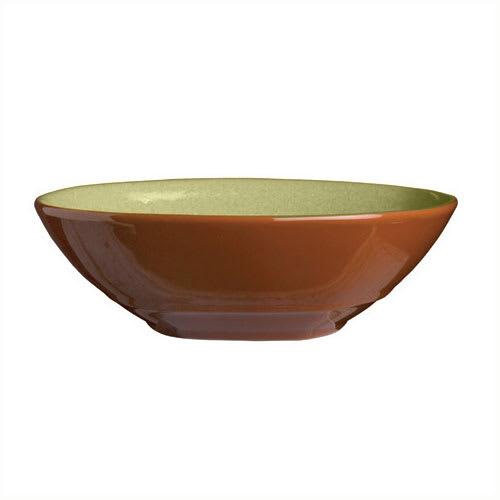 """Syracuse China 922224353 21 oz Round Bowl, Terracotta Clay, 2 Tone, 7.12x2"""", Fern"""