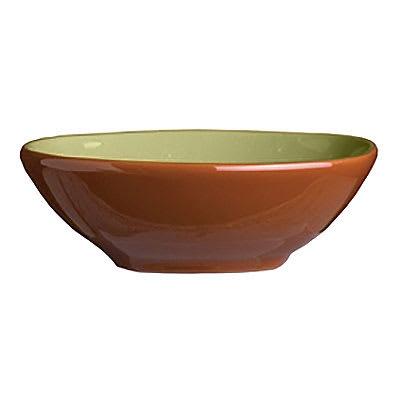 """Syracuse China 922224355 4-oz Round Bowl, Terracotta Clay, 2-Tone, 4.12x1.25"""", Fern"""
