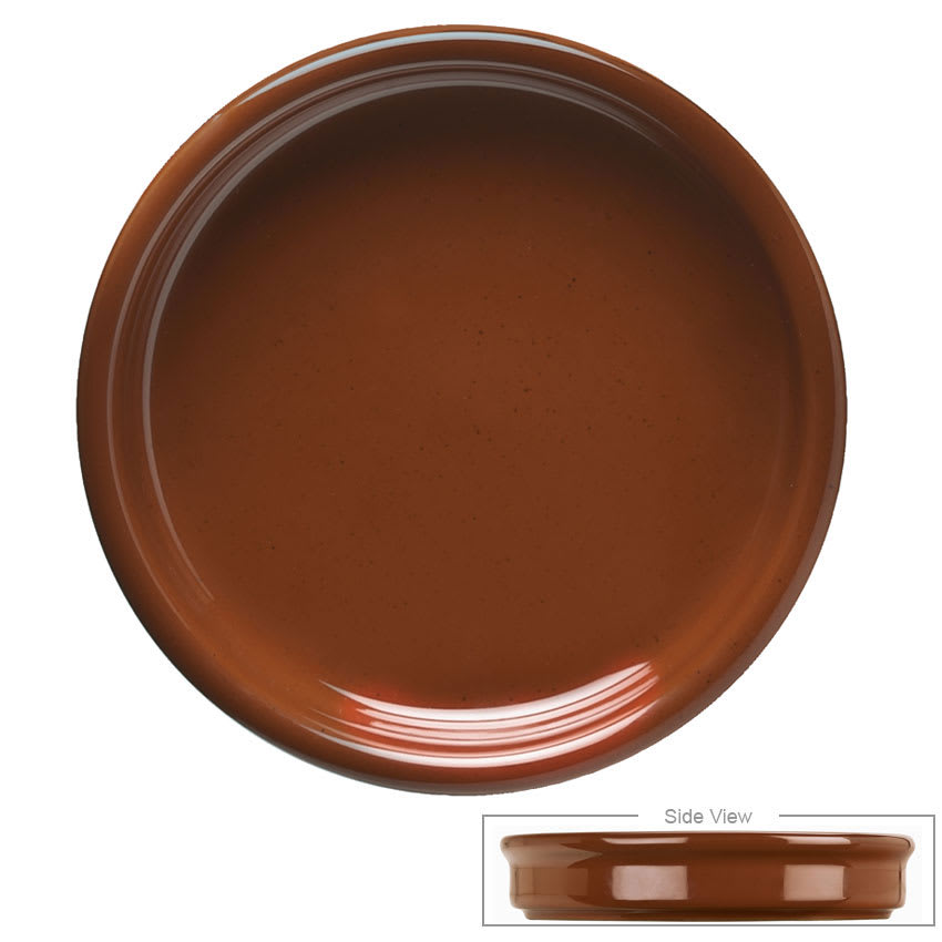 Syracuse China 922229900 4 oz Terracotta Cazuela Bowl - Round, Brown