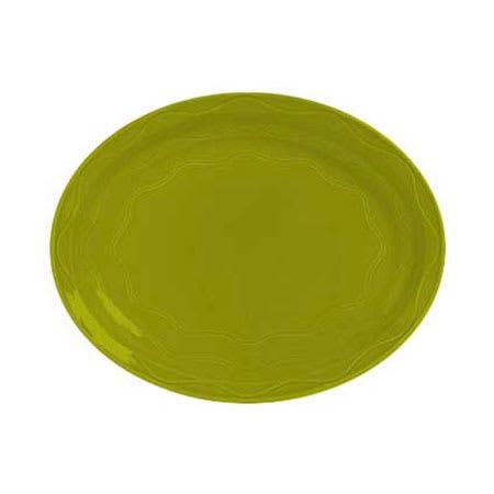 """Syracuse China 923036001 13-5/8"""" Cantina Platter - Oval, Glazed, Limon"""