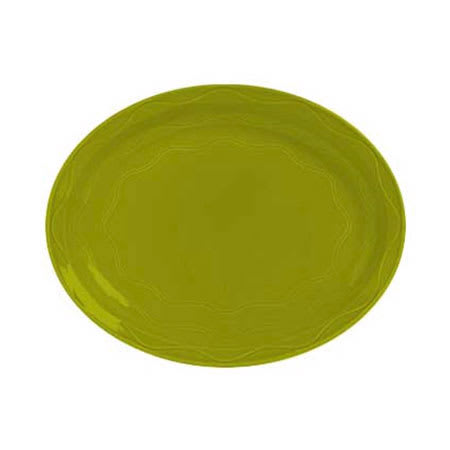 "Syracuse China 923036008 11-5/8"" Cantina Platter - Glazed, Limon"