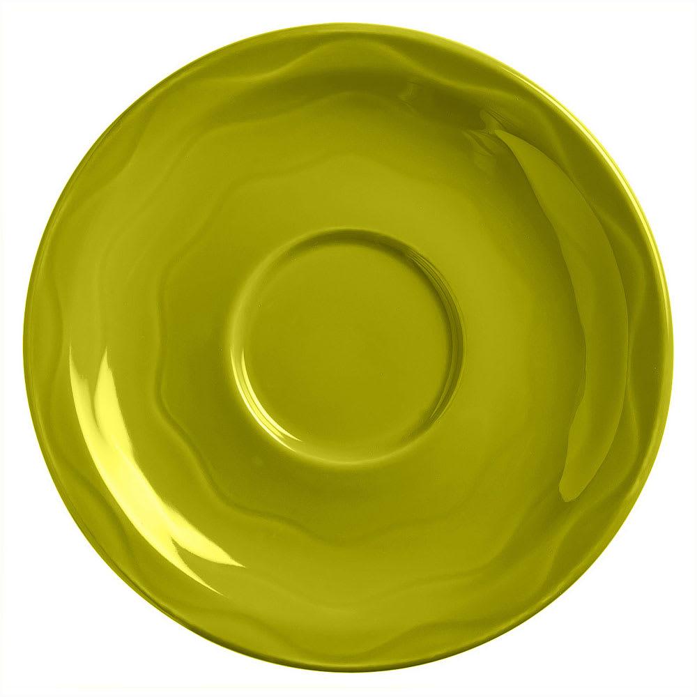 """Syracuse China 923036201 6-1/4"""" Cantina Saucer - Round, Glazed, Limon"""