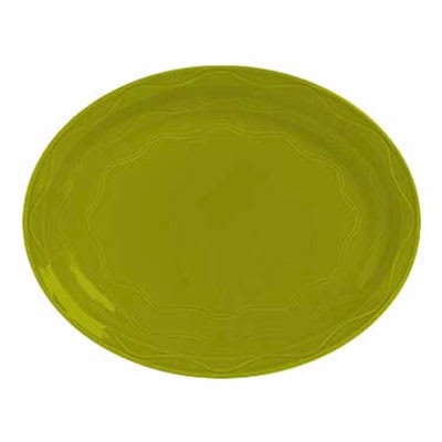 """Syracuse China 923036615 9-5/8"""" Cantina Platter - Oval, Glazed, Limon"""