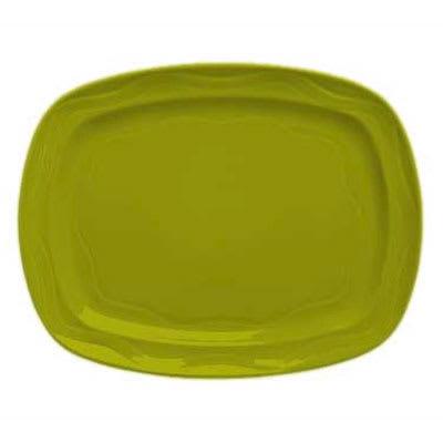 """Syracuse China 923036640 12-1/2"""" Cantina Racetrack Platter - Glazed, Limon"""