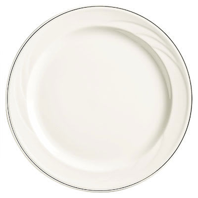 "Syracuse China 927659372 6 1/4"" Royal Rideau Plate - Round, White"