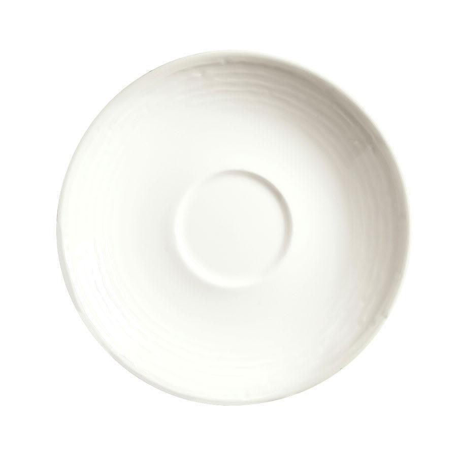 "Syracuse China 935550 119 6.25"" Round Saucer - Embossed Rim, Porcelain, Atherton, White"