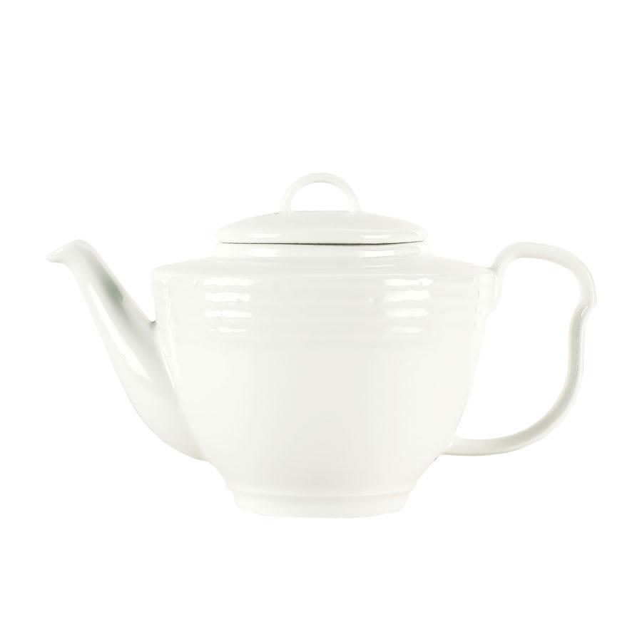 Syracuse China 935550 120 15-oz Teapot - Embossed Rim, Porcelain, Atherton, White