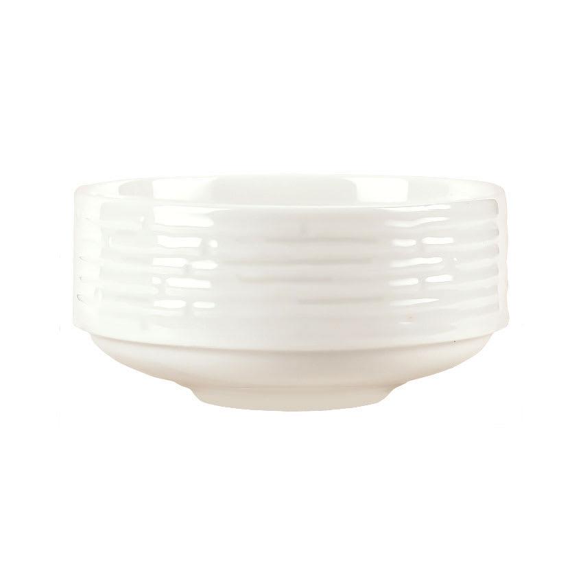 Syracuse China 935550 126 10-oz Round Bouillon - Embossed Rim, Porcelain, Atherton, White