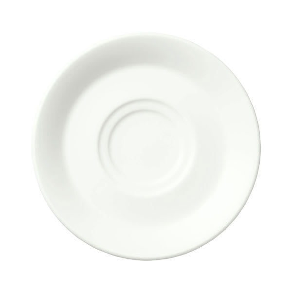 "Syracuse China 950002589 6.25"" Saucer w/ Royal Rideau Undecorated Pattern & Chateau Shape, Luxor Body"