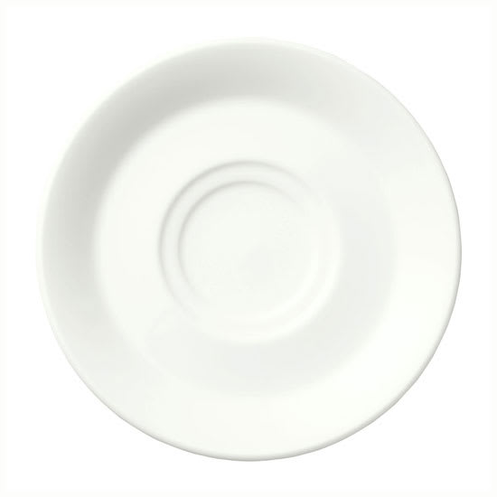 "Syracuse China 950033588 5.88"" Saucer w/ Cirrus Pattern & American Shape, Alumina Body"
