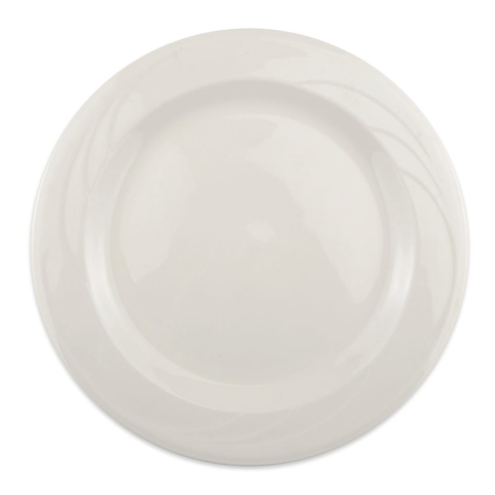 "Syracuse China 950038866 6.25"" Plate w/ Cascade Pattern & Slenda Turina Shape, Flint Body"