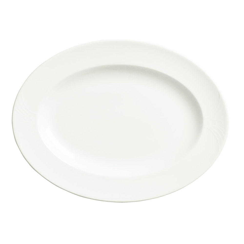 "Syracuse China 950041929 9"" Oval Platter, Low Profile, w/ Cafe Royal Pattern & Royal Rideau Body"