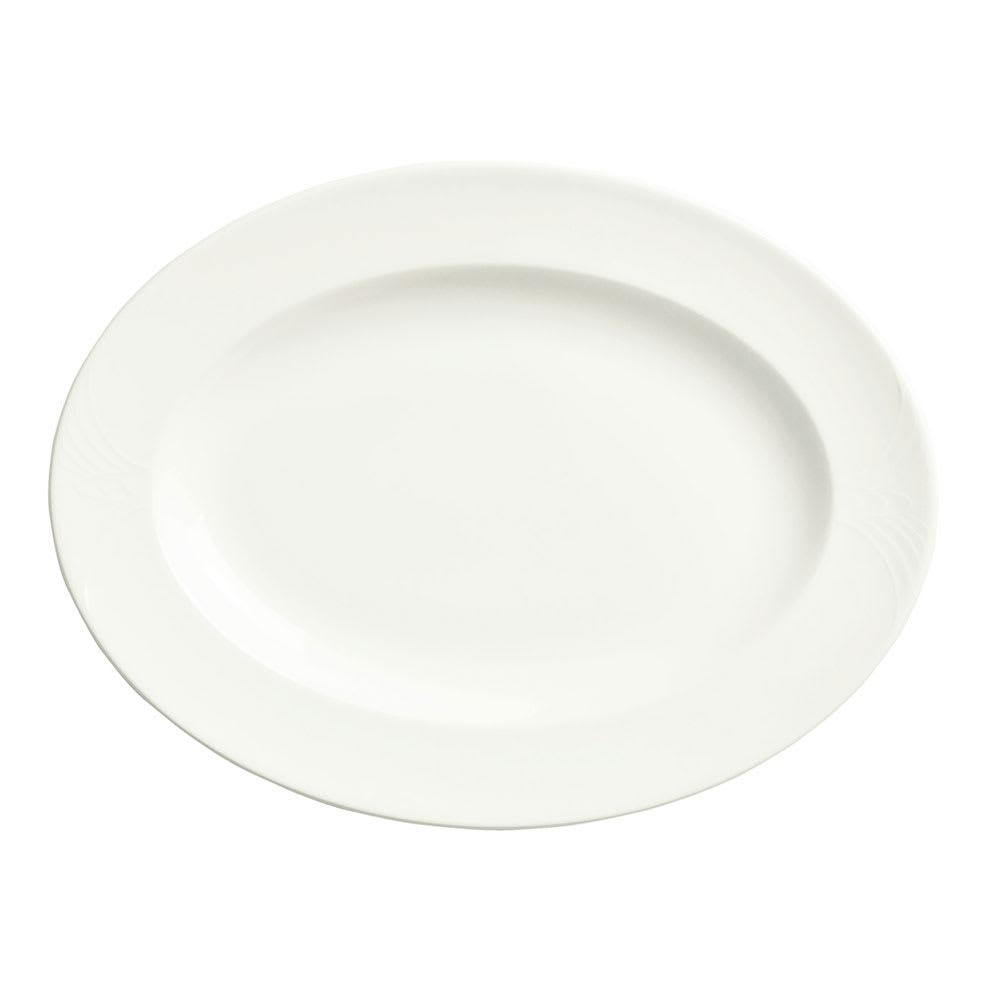 "Syracuse China 950041934 9.75"" Oval Platter, Low Profile, w/ Cafe Royal Pattern & Royal Rideau Body"