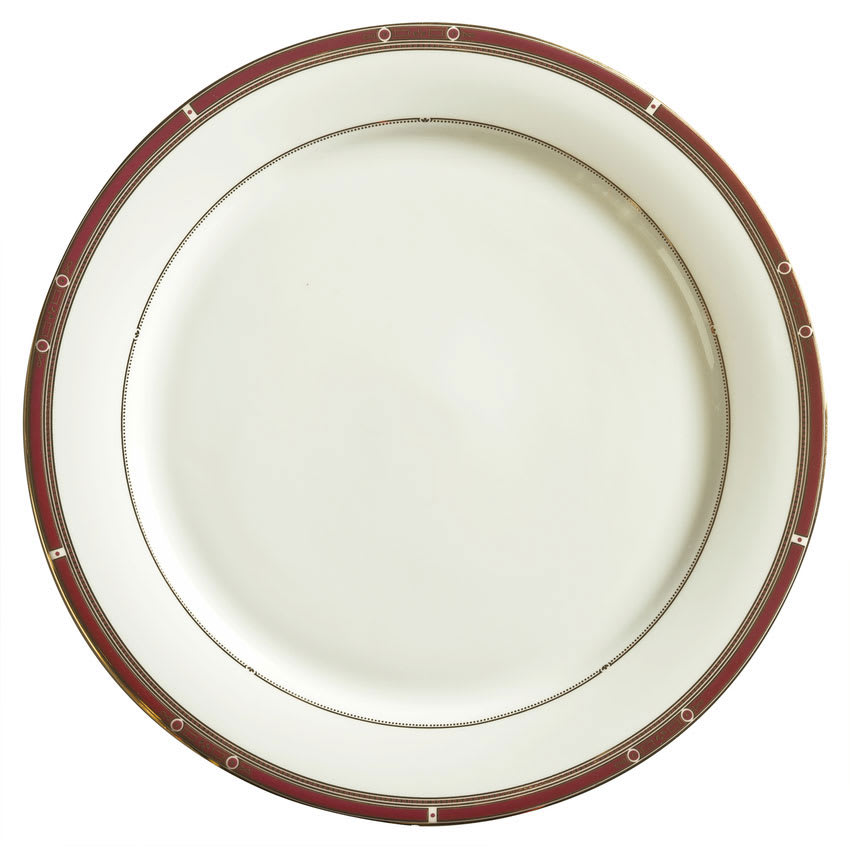 "Syracuse China 954321003 6-1/2"" Barrymore Plate - Round, Glazed, White"
