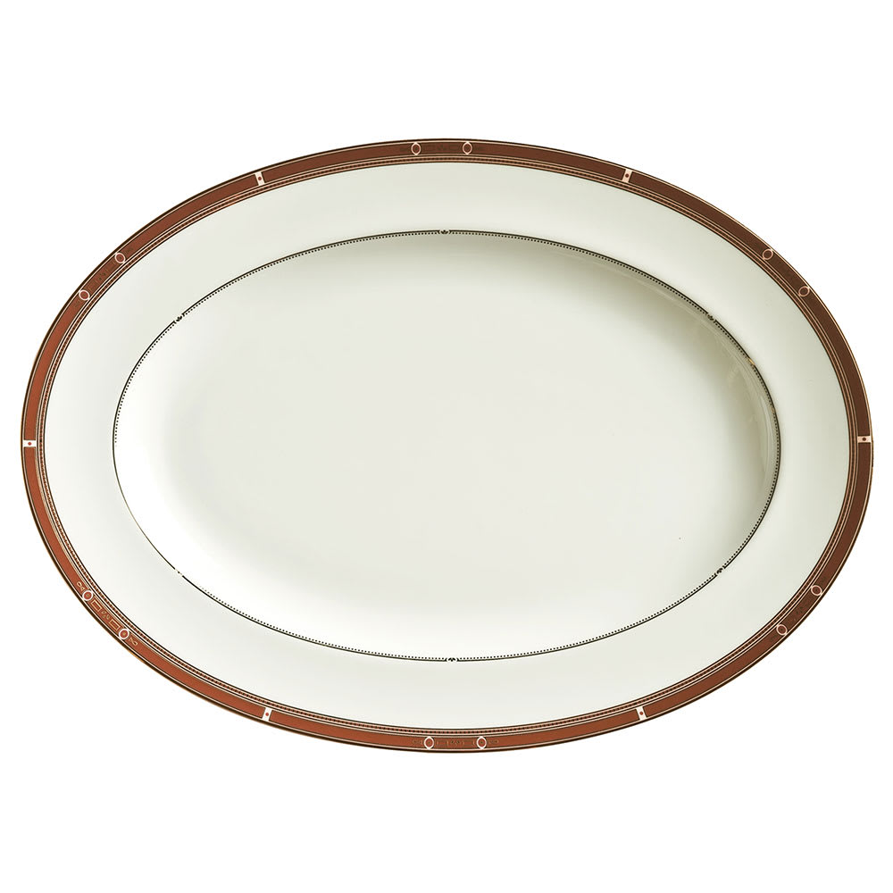 "Syracuse China 954321007 14-3/8"" Barrymore Platter - Oval, Glazed"