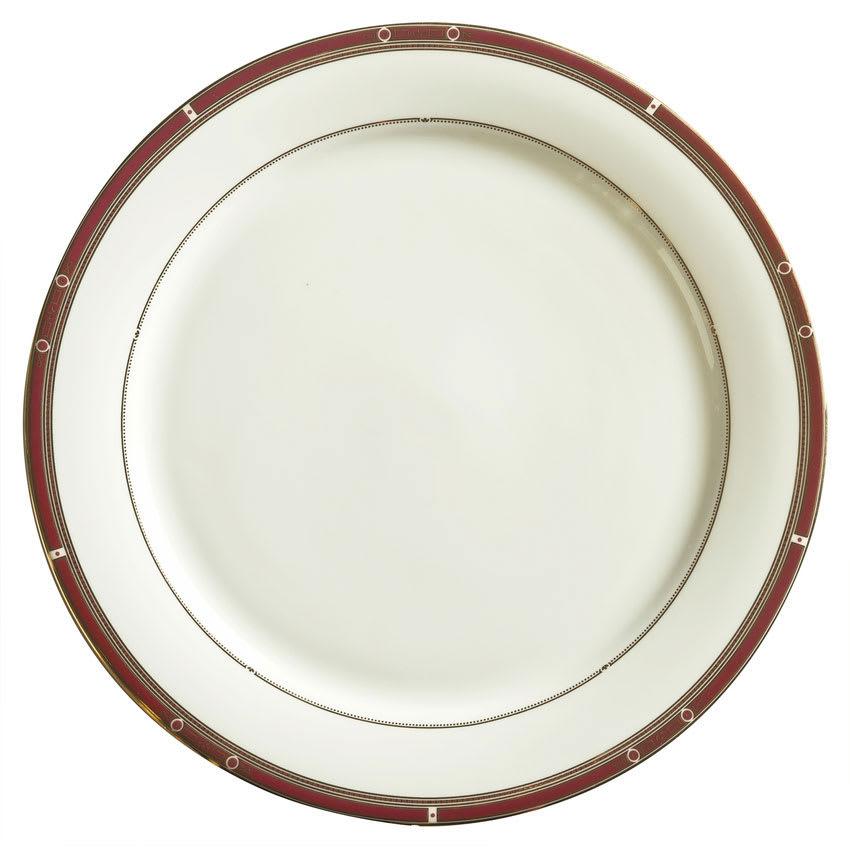 """Syracuse China 954321022 11-3/8"""" Barrymore Plate - Round, Glazed, White"""