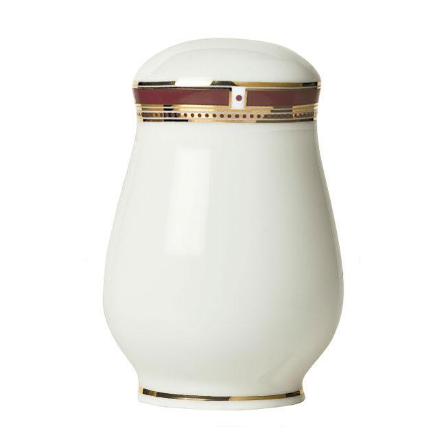 """Syracuse China 954321026 2-1/4"""" Barrymore Salt Shaker - Glazed, White"""