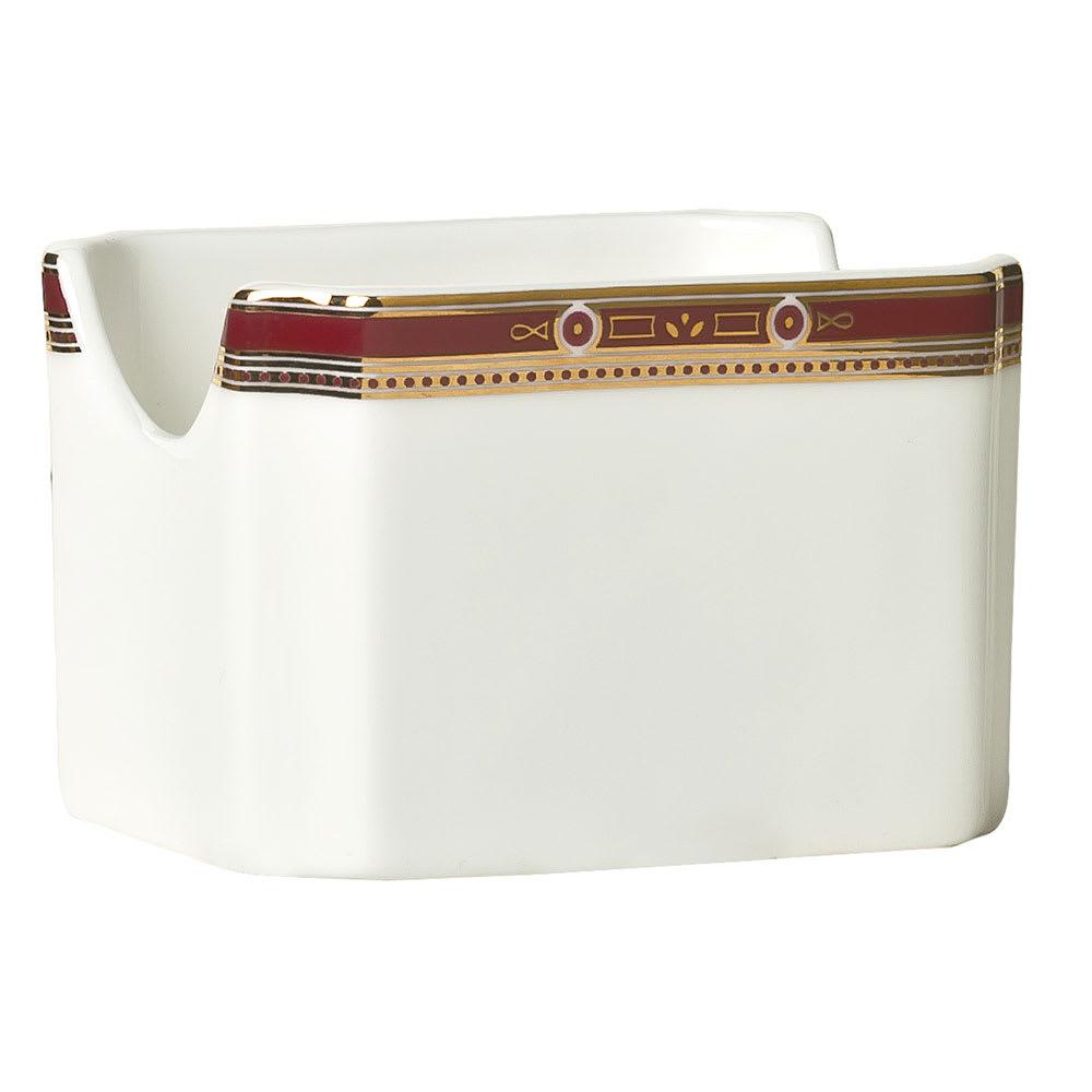 """Syracuse China 954321029 3"""" Barrymore Sugar Packet Holder - Rectangular, Glazed, White"""