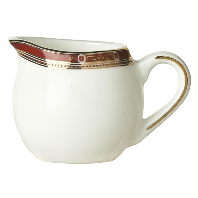 Syracuse China 954321077 3-oz Barrymore Creamer - Glazed, Handle, White