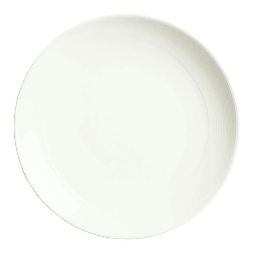 "Syracuse China 987659302 10.12"" Round Plate, Coupe, w/ Silk Pattern & Royal Rideau Body"