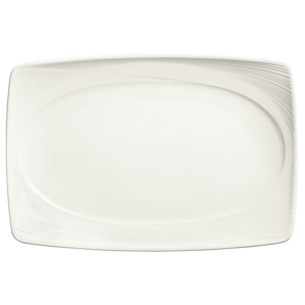 "Syracuse China 987659395 13"" Silk Pattern Platter - Rectangular, White"