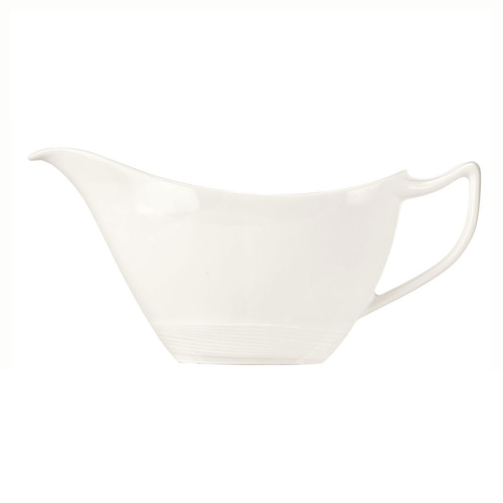 Syracuse China 987659397 3-oz Royal Rideau Sauce Boat - Handle, Silk Pattern, White
