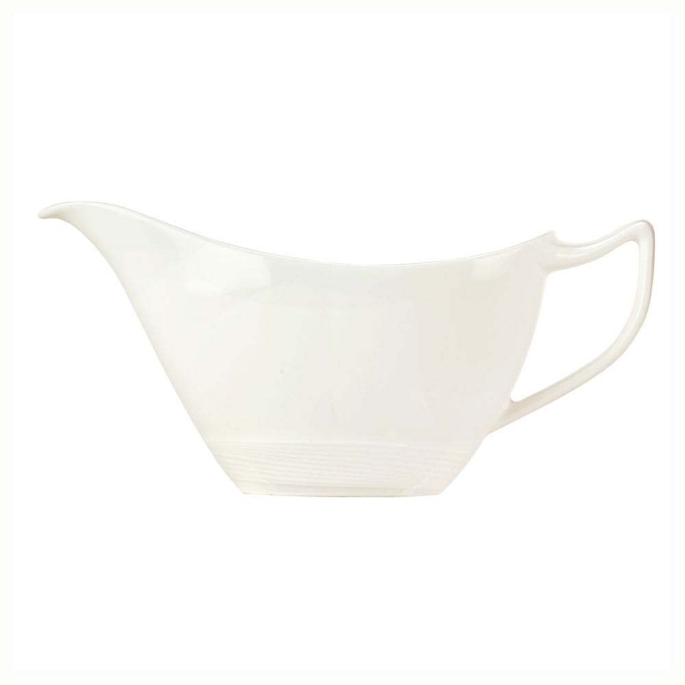 Syracuse China 987659398 6 oz Royal Rideau Sauce Boat - Handle, Silk Pattern