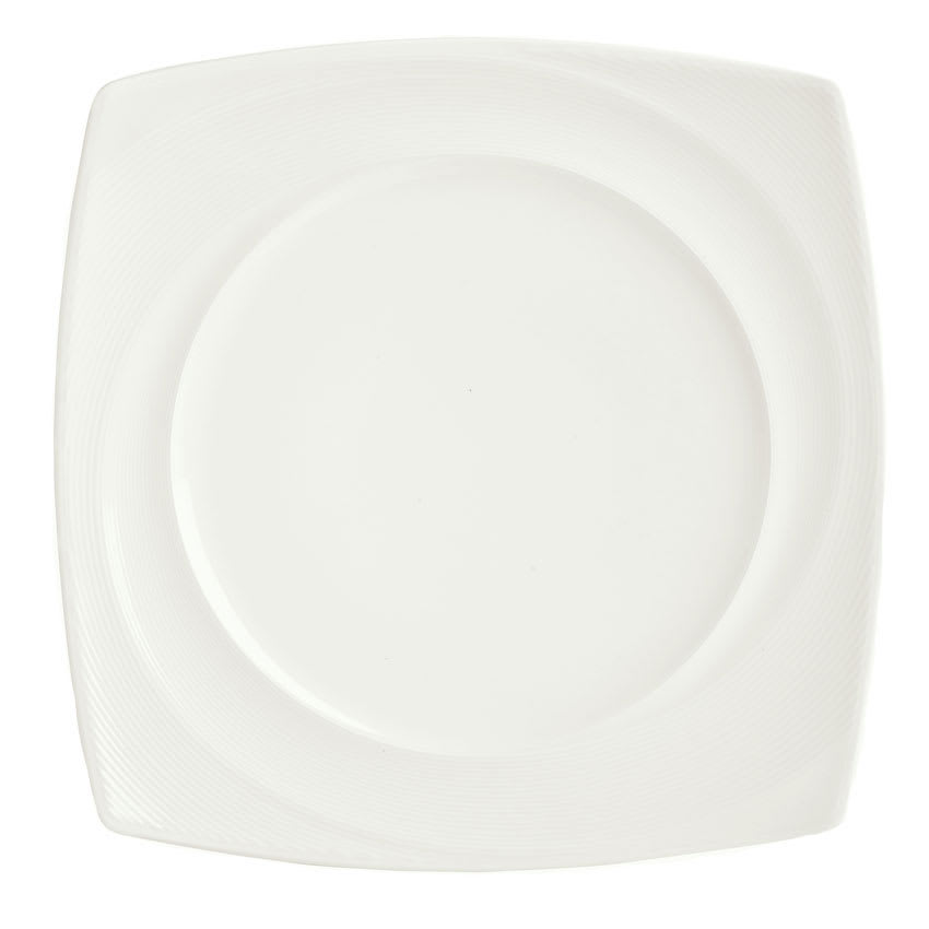 "Syracuse China 987659432 10-1/4"" Silk Pattern Plate - Square, White"