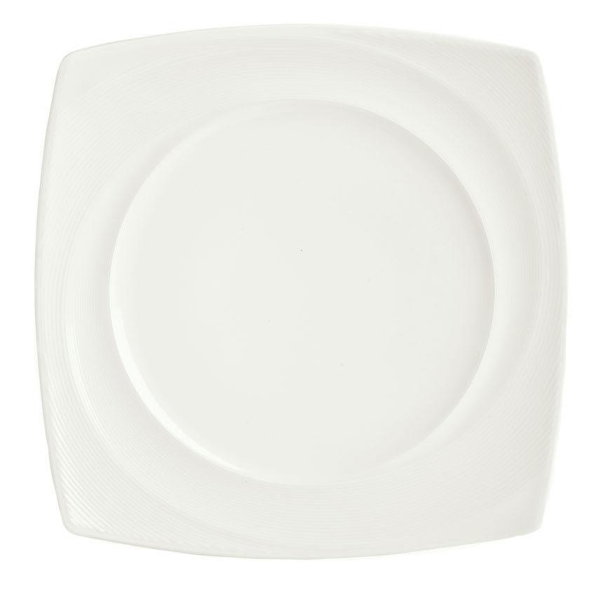 "Syracuse China 987659434 7 3/4"" Silk Plate - Square, White"