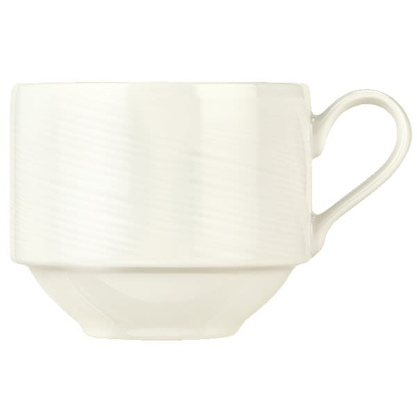 Syracuse China 987659436 8.5 oz Silk Cup - Porcelain, Royal Rideau White