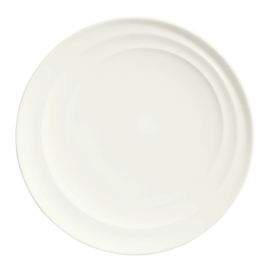"Syracuse China 995679503 9"" Plate w/ Resonate Pattern & Royal Rideau, Alumina Body"