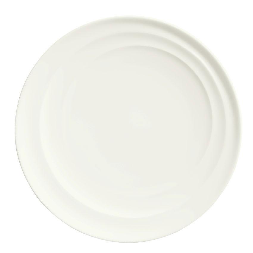 """Syracuse China 995679505 6.5"""" Plate w/ Resonate Pattern & Royal Rideau, Alumina Body"""